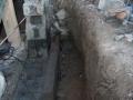 Grøft for forsterkning av bankett, ca 30x30x150 cm