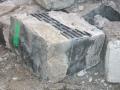 Murblokkene som er brukt i den opprinnelige grunnmuren.