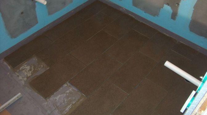 Første del av gulv ferdig
