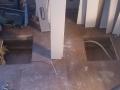 Hulltaking i gulvet for å installere 2 ekstra spotter i stue som ligger under dette rommet.